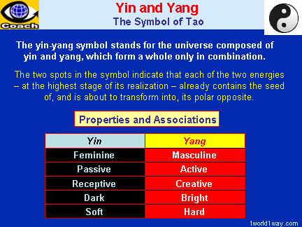 YIN and YANG - the Symbol of Tao - two polar energies